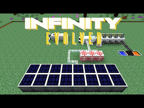 Minecraft Mods FTB Infinity Evolved - SOLAR FARM [E60] (Modded Expert Mode)