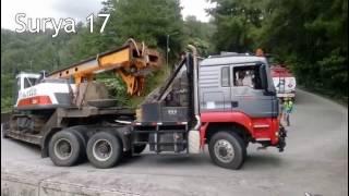 Truck MAN TGS Muatan Crane 60 TON, Sitinjau Lauik