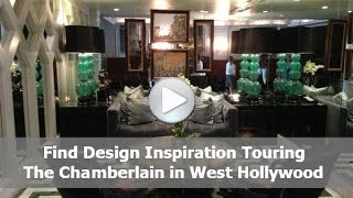 Tour of the Chamberlain Hotel in West Hollywood with Alice T. Chan