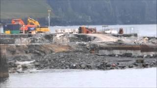 Blasting at Doolin Harbour for new Pier, Doolin, County Clare, Ireland.