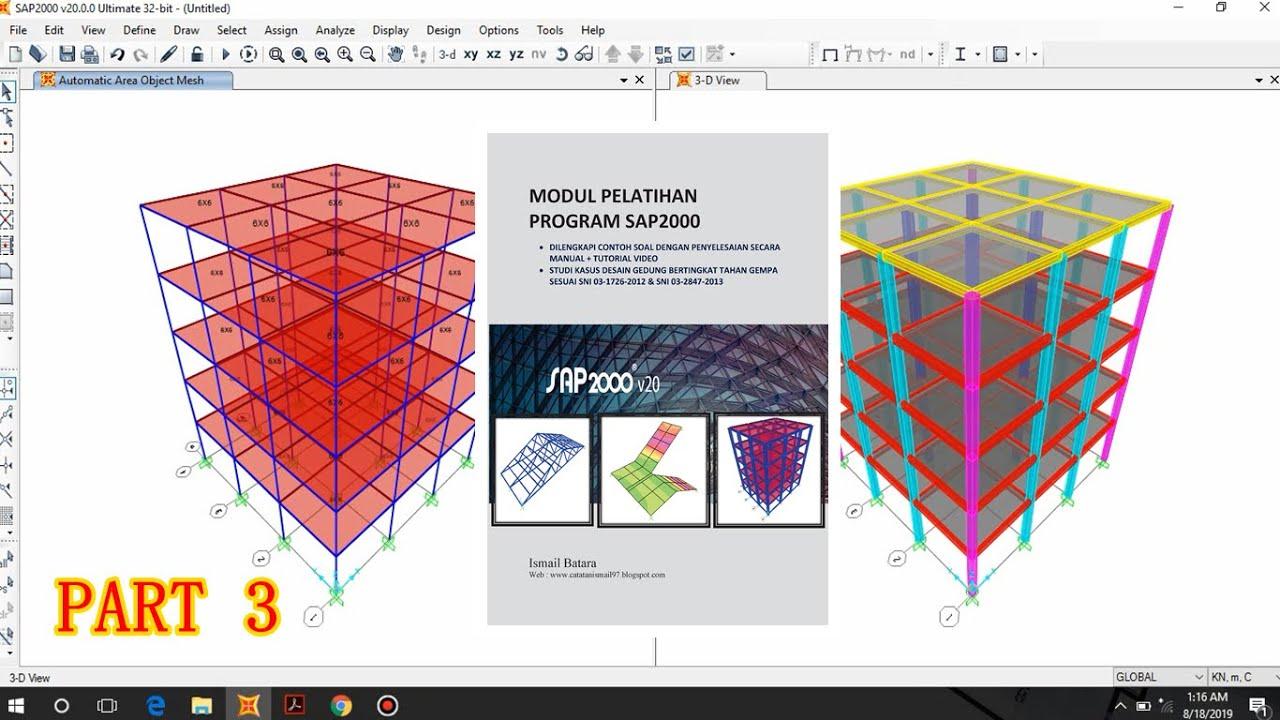 Tutorial SAP2000 Desain Gedung Bertingkat Tahan Gempa SRPMK Part 3