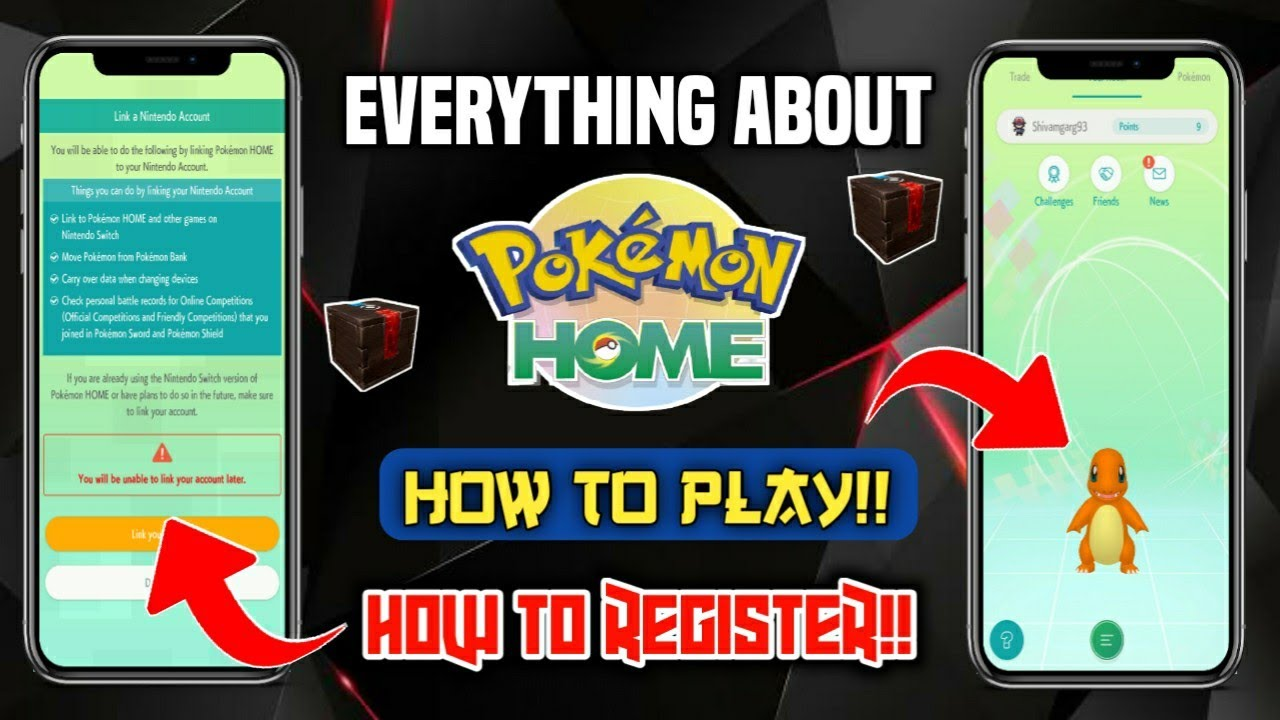 How To Play Pokemon Home How To Make Account In Pokemon Home Everything About Pokemon Home Youtube