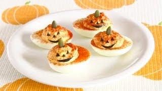 Halloween Jack-o'-lantern Deviled Eggs (recipe) ハロウィン デビルド・エッグ (レシピ)