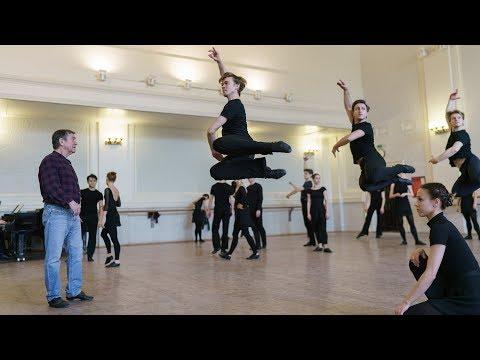 Репетиция Арагонской хоты. Балет Игоря Моисеева.