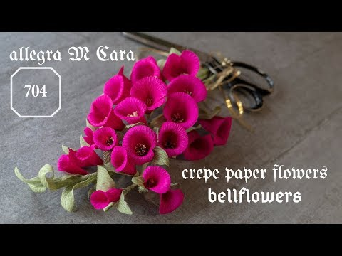 704 DIY Easy Paper Bellflowers/ Pro Paper Craft Tutorial