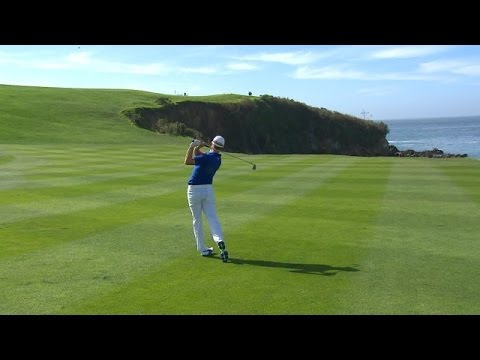 Jonas Blixt chases superb approach onto green at AT&T Pebble Beach