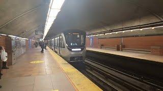Sortie métro MTL STM la ligne 2 orange tout le trajet MPM-10 AZUR