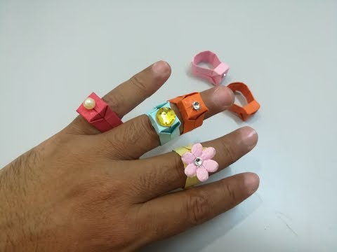 How to make a paper ring | DIY Easy Paper Ring