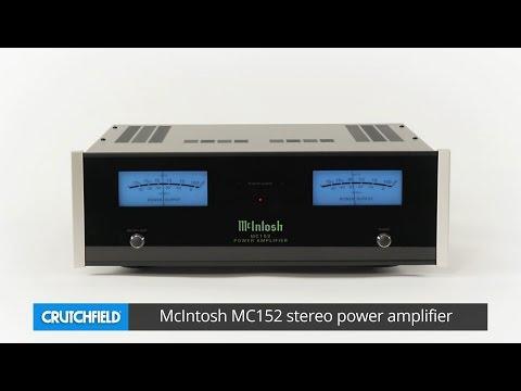 McIntosh MC152 stereo power amplifier   Crutchfield video