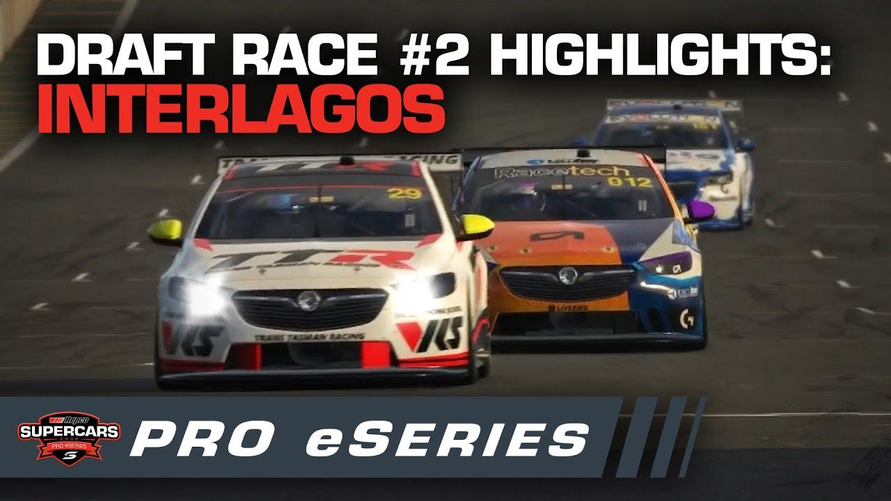 Highlights: Draft Race #2 Interlagos - Repco Pro eSeries | Supercars Pro eSeries 2020