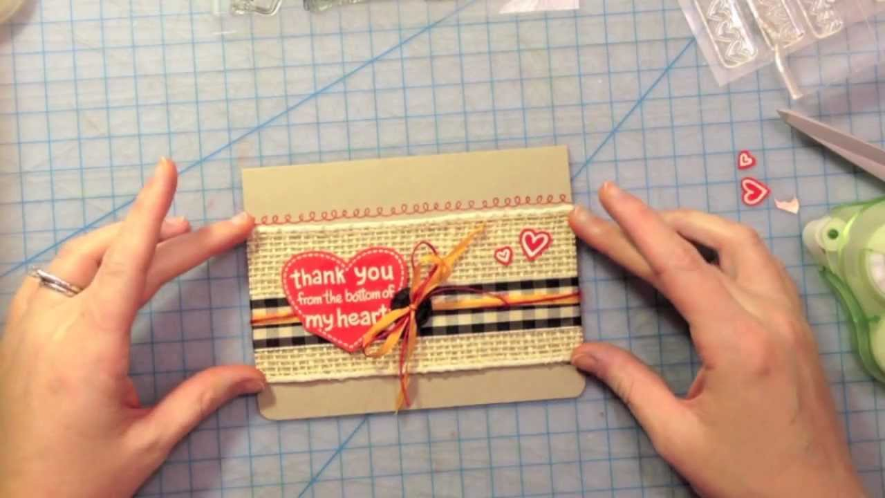 How To Make A Thank You Card From Start To Finish Lawn Fawn .  How To Make A Thank You Card In Word