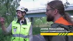 Pyöräliitto tutustumassa Destian siltatyömaan liikennejärjestelyihin