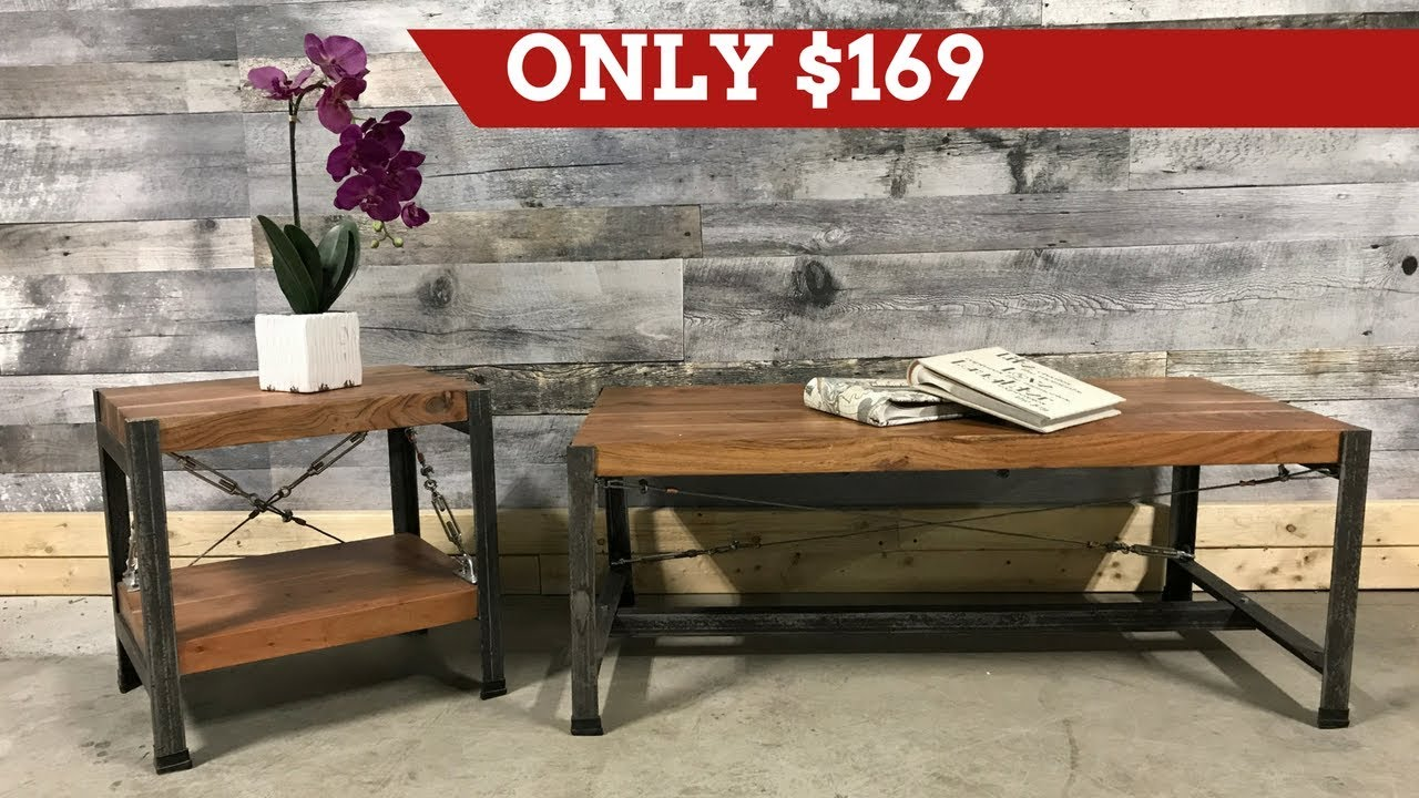 Monroe industrial acacia wood furniture rustic furniture outlet