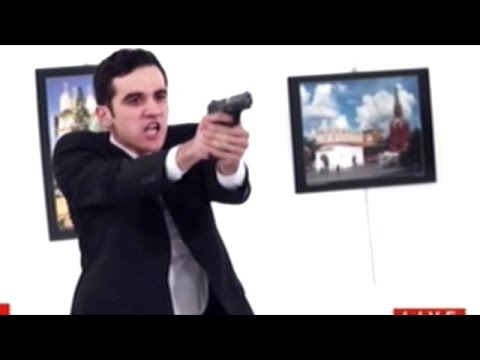 (WARNING GRAPHIC) Video Shows Gunman Shoot And Kill Russian Ambassador To Turkey!