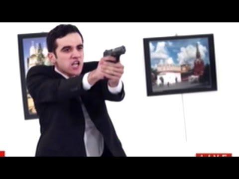 (WARNING GRAPHIC) Video Shows Gunman Shoot And Kill Russian Ambassador To Turkey!