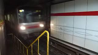 東京メトロ丸ノ内線02系第20編成「池袋行き」東京駅到着
