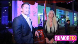 Maryse Ouellet, her sister Michelle & The Miz leaving BOA in Beverly Hills