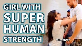 Girl with Superhuman Strength Prank Trick!