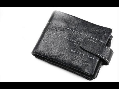 Мужской деловой красивый качественный кошелек из натуральной кожи Gubintu