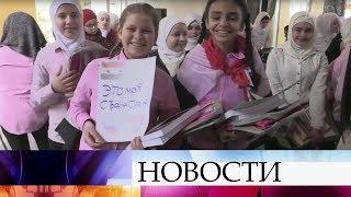Российские военные доставили в одну из школ Алеппо учебники русского языка.