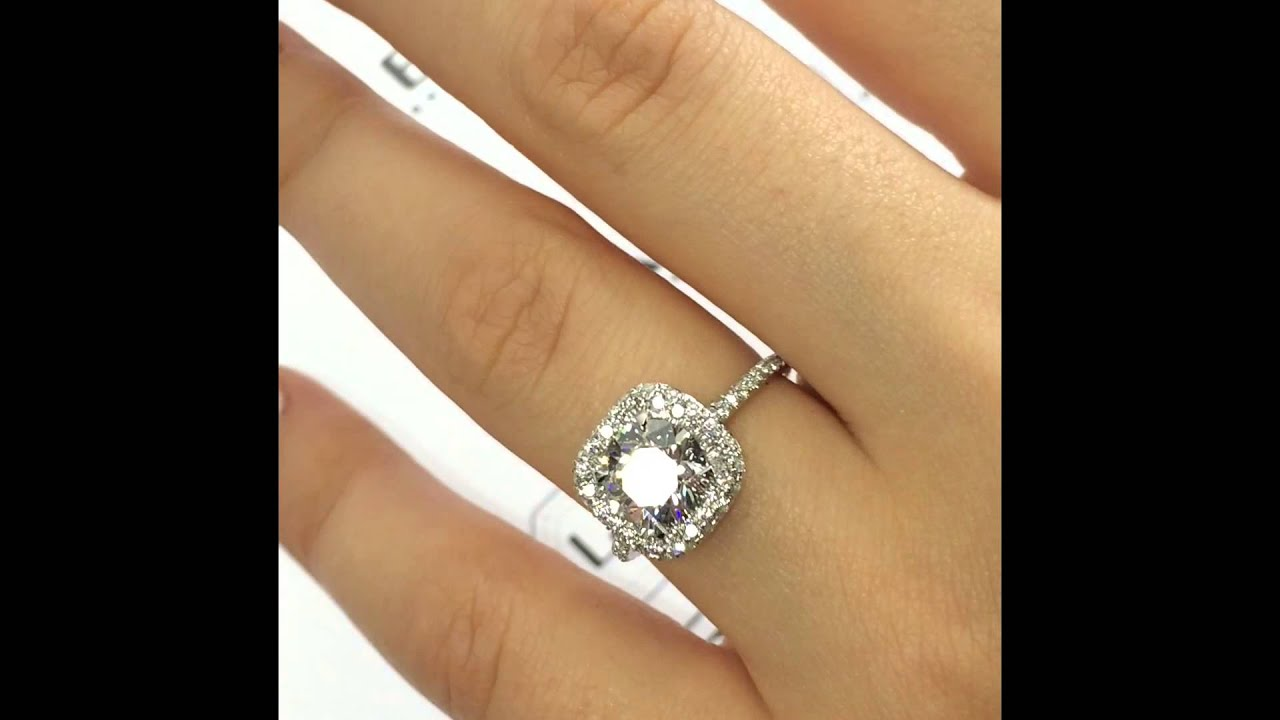 diamond blue round inexpensive ring white engagement carat and rings