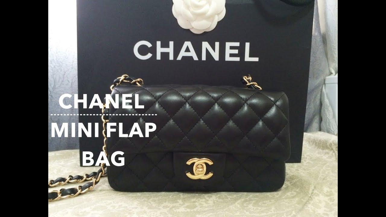 66e164d84410 UNBOXING │ Chanel Mini Flap Bag 2015 Lambskin GHW - YouTube