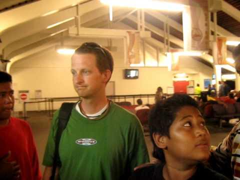 Dir. Ryan Woodward at the Pago Pago International Airport