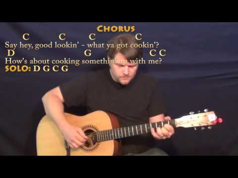 Hey Good Lookin' (Hank Williams) Fingerstyle Guitar Cover Lesson with Chords/Lyrics