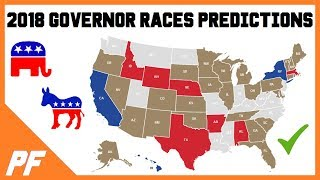 2018 Governor Predictions Midterm Elections - Governor Map Race Ratings Analysis October 2018