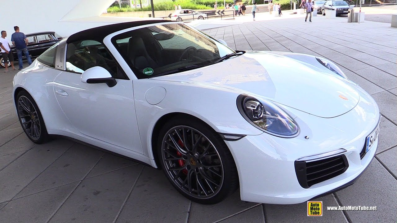 911 Targa 4S >> 2017 Porsche 911 Targa 4S - Exterior Walkaround - Porsche Drive Porsche Museum Stuttgart - YouTube