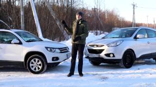 Cравнение Hyundai ix35 и Volkswagen Tiguan смотреть