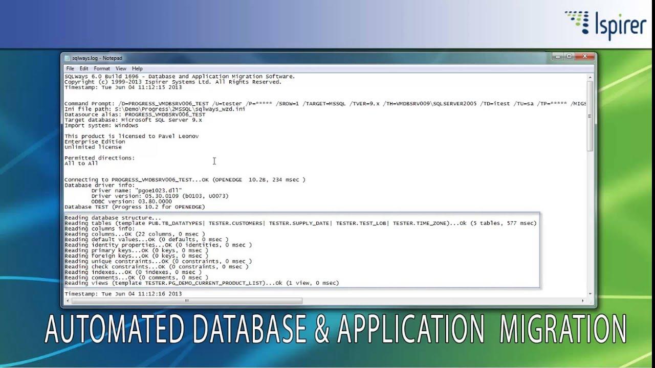 Progress to Microsoft SQL Server Database Migration Demo