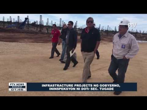 Infrastructure projects ng gobyerno, ininspeksyon ni DOTr Sec. Tugade