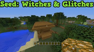 Minecraft Xbox + PS3 + PS4 Seed - Witches Hut, Name Tag, Glitch