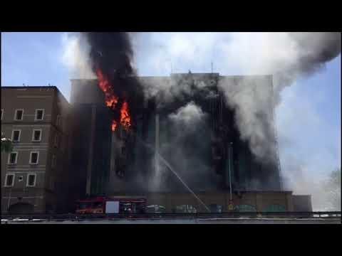 Bangunan KWSP Petaling Jaya terbakar