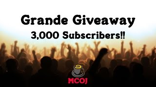 Grande Giveaway: 3,000 Subscribers!! Thumbnail