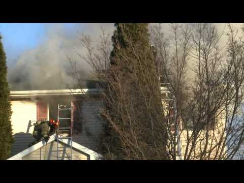 01.10.13 - 2ND ALARM HOUSE FIRE; Lehigh Township, PA