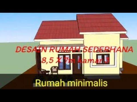 desain rumah minimalis sederhana. 8,5 x 7.m kamar 3 - youtube