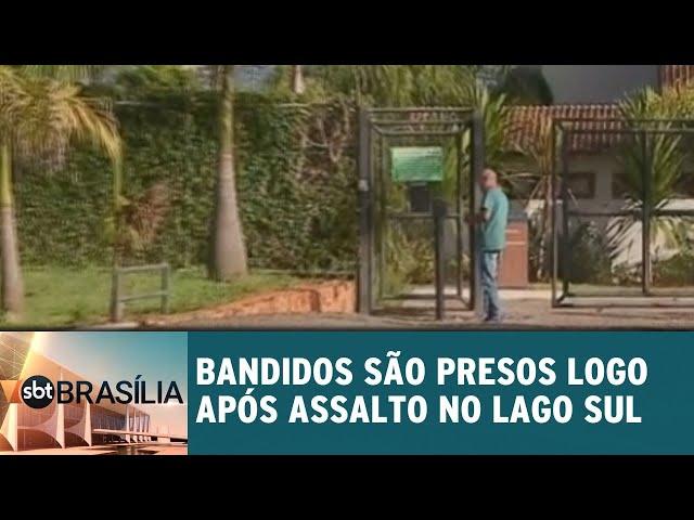 Bandidos são presos logo após assalto no Lago Sul | SBT Brasília 19/02/2019
