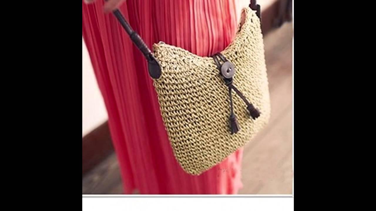 Women Crochet Sling Shoulder Handbag Cross Body Beach Bag Summer