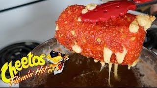 DIY GIANT HOT CHEETOS MOZZARELLA STICK!!