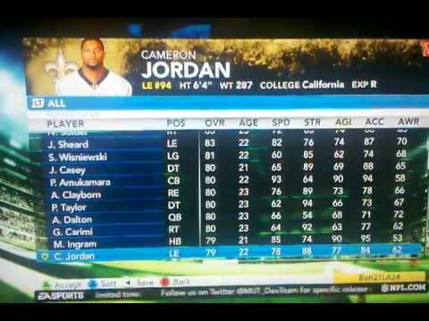 Madden 12 Rookie Ratings