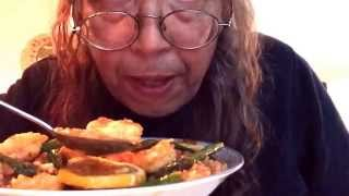 Homemade Spicy Shrimp Over Rice With Cantaloupe Fresh Figs Asmr Kindergarten First Love