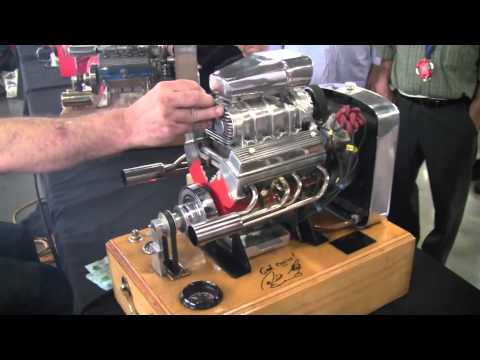 Miniature running Supercharged V8 Engine