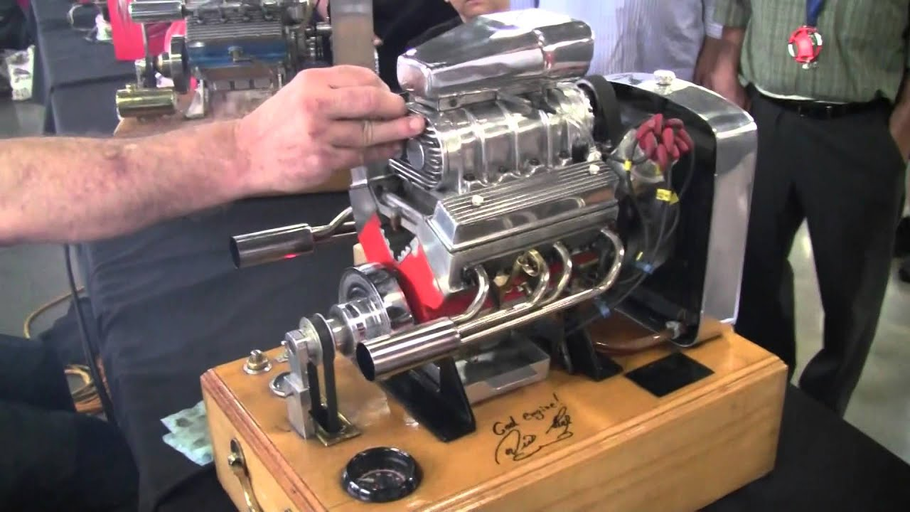 miniature running supercharged v8 engine youtube. Black Bedroom Furniture Sets. Home Design Ideas