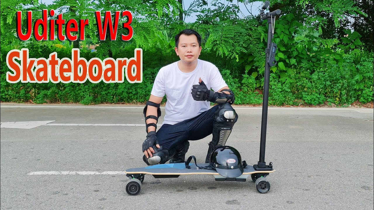 45Km/h Uditer W3 Electric Skateboard Unboxing Review - ScooterBoard