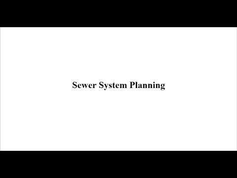 Sewer System planning