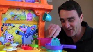 Dora Sizzling Surprises Kitchen Unboxing! || Dora The Explorer Toys Review || Konas2002