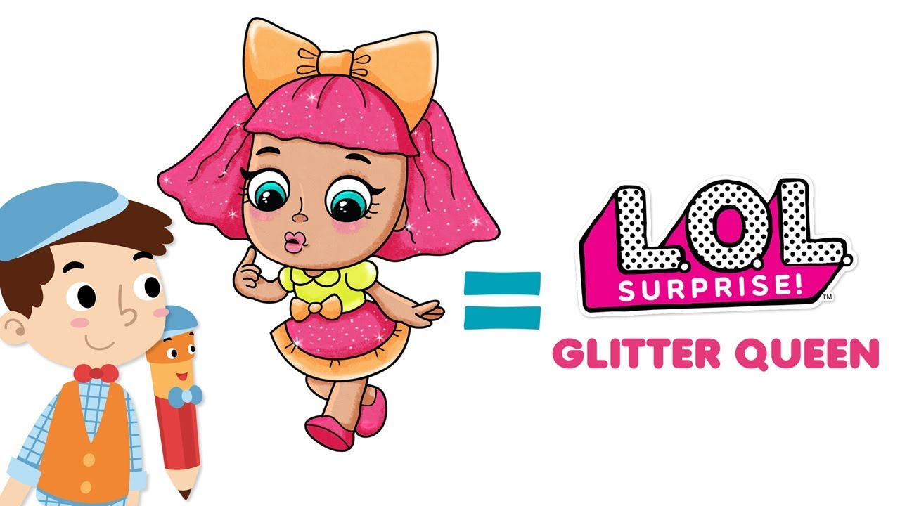 Glitter Queen Lol Surprise Doll Coloring Mewarnai Youtube
