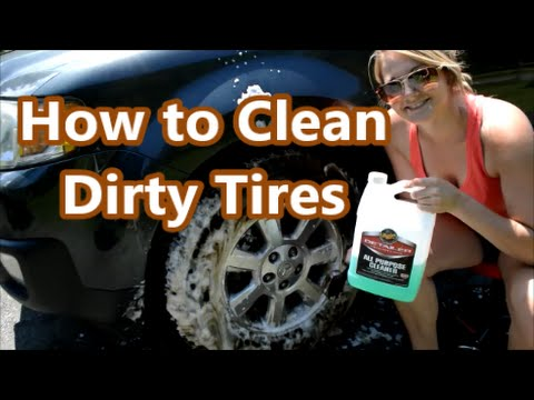 How To Clean Dirty Tires Properly - Professional Detailing Tips & Tricks!